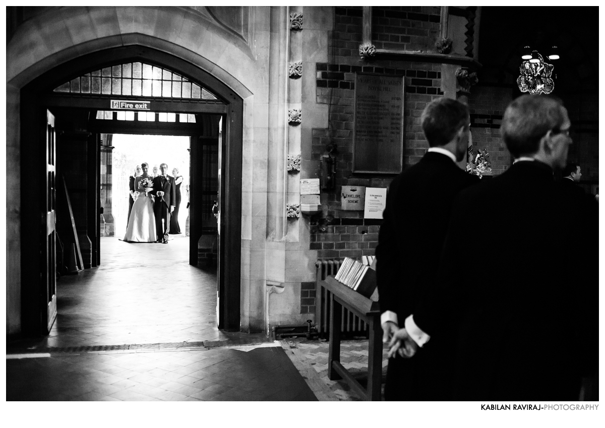 bride entering church