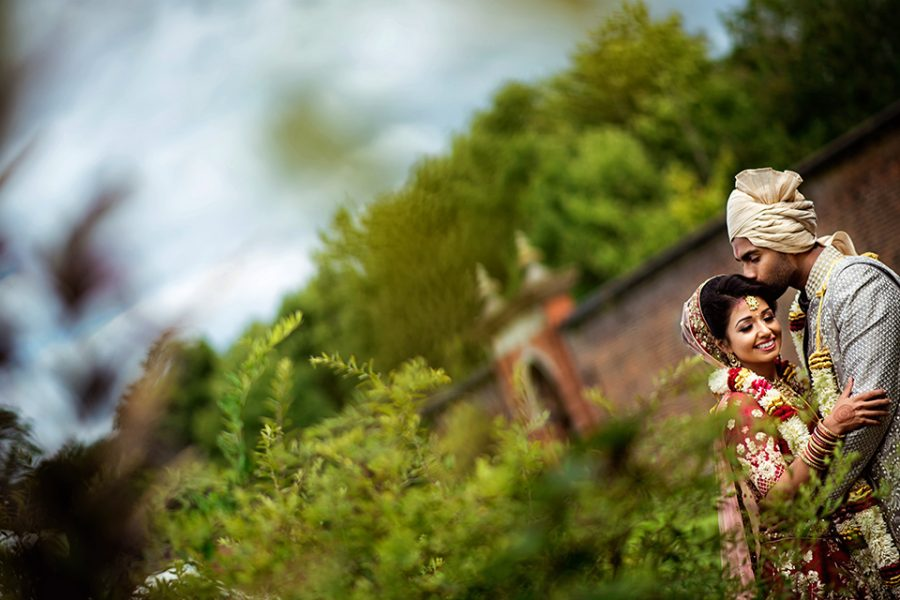 Amira and Sujan - Luton Hoo Walled Garden