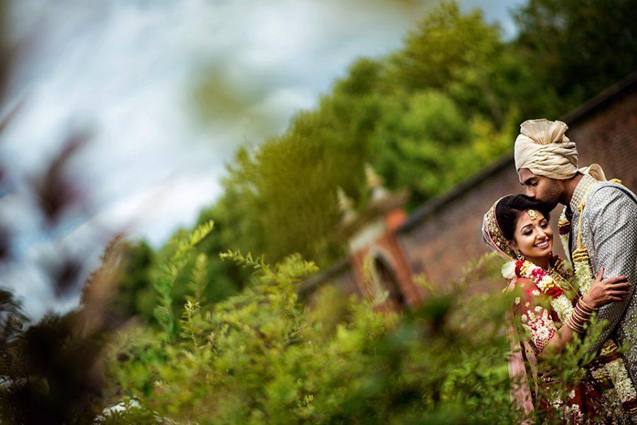 Amira and Sujan - Luton Hoo Walled Garden